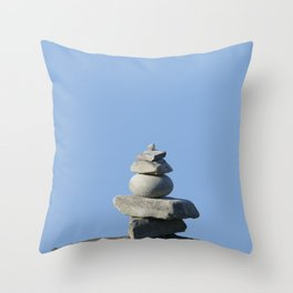 Stone on stone,  tranquility Throw Pillow