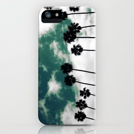 Palms in the sky iPhone Case