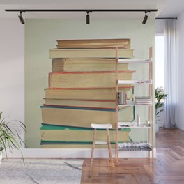 Stack of Books Wall Mural
