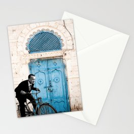 Let's travel on a bike  Stationery Cards