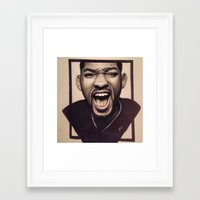 fresh prince Framed Art Prints featuring Fresh Prince by JoelAnthonyArt