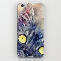 kitty iPhone & iPod Skins featuring Kitty by jbjart