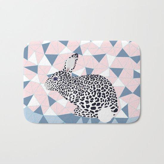 Cute Rabbit Leopard Pattern Design Bath Mat