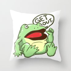 GET OUT. Throw Pillow