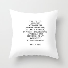 Psalm 18:2 Throw Pillow