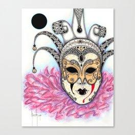Máscara Veneciana Canvas Print