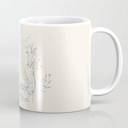 Spun Cotton Floral Wreath Coffee Mug
