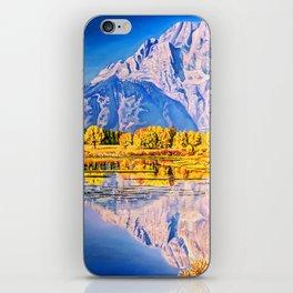mountain reflection iPhone Skin