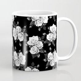 Dark and White Roses Coffee Mug