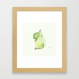 Watercolor pear Framed Art Print