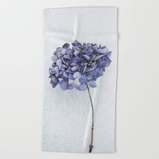 Dried Blue Hydrangea Beach Towel