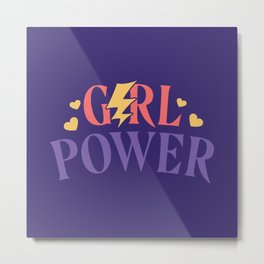 Girl Power Feminist Metal Print