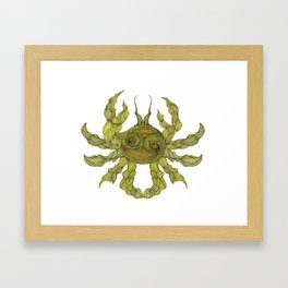 Cancer the Crab Framed Art Print