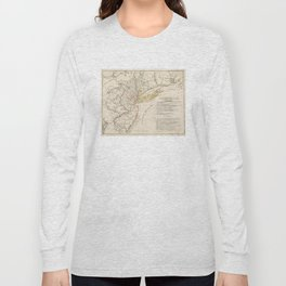 Vintage Map of New Jersey (1780) Long Sleeve T-shirt