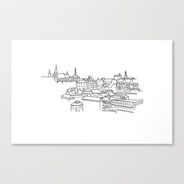 Vyšehrad - View from the castle Canvas Print