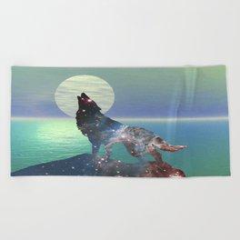 Star Wolf Beach Towel