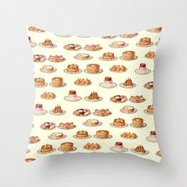 Cakes On Plates Throw Pillow