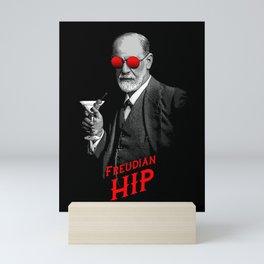 Hipster Psychologist Sigmund Freud Mini Art Print