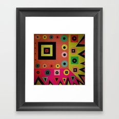 mixed shapes Framed Art Print
