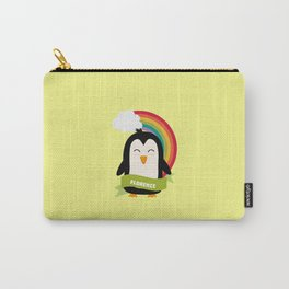 Penguin Rainbow from Florence T-Shirt for all Ages Carry-All Pouch