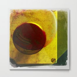 the red button Metal Print