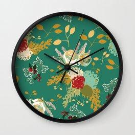 Christmas Floral Wall Clock