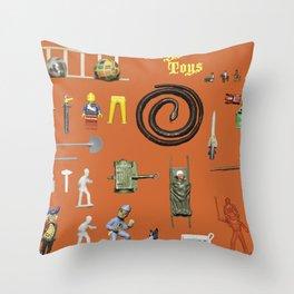 BoysToys Orange (old fashion) Throw Pillow