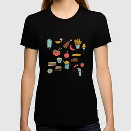 Food Frenzy yellow T-shirt