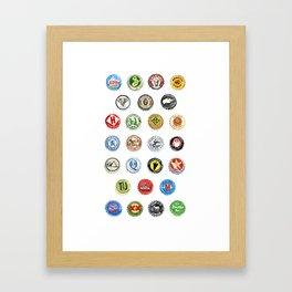 Bottlecaps A to Z Framed Art Print