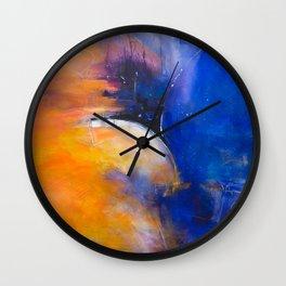 Blue Edge Wall Clock