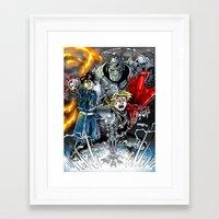 fullmetal Framed Art Prints featuring Fullmetal Alchemist by MarioRojas