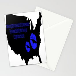 Kiss a Cop Stationery Cards