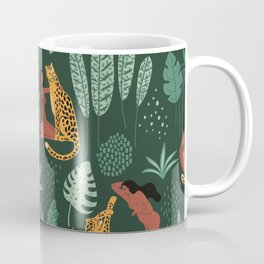 Nature Leopard Girl Coffee Mug