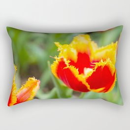 Fringed tulips Rectangular Pillow