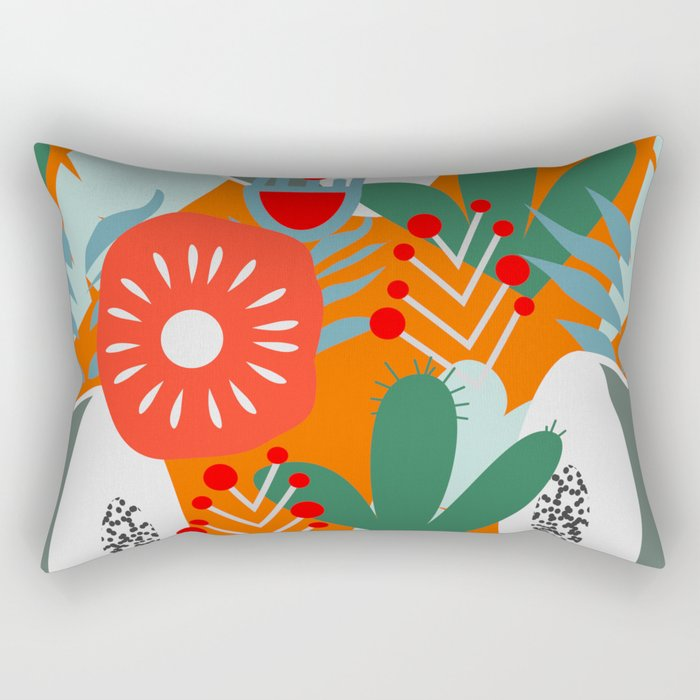 Cacti, fruits and flowers Rectangular Pillow