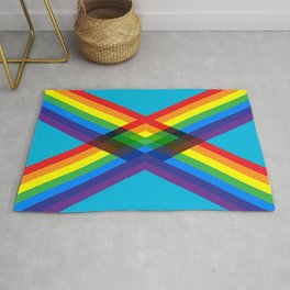 crossing rainbows Rug