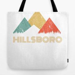 Retro City of Hillsboro Mountain Shirt Tote Bag