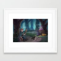adventure is out there Framed Art Prints featuring Adventure by aokstudios