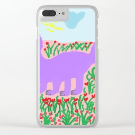 painting for kids-the mauve fox Clear iPhone Case