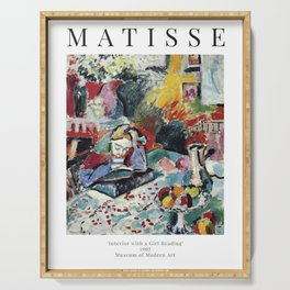 Interior with a Girl Reading - Henri Matisse - Exhibition Poster Serving Tray