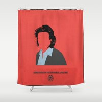 battlestar Shower Curtains featuring Gaius Baltar by PyroNipo