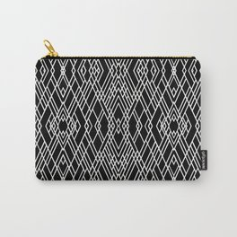 Art Deco Black and White Carry-All Pouch