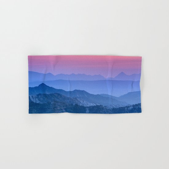 """Mountain dreams"". At sunset. Hand & Bath Towel"