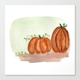 Fall Pumpkins Canvas Print
