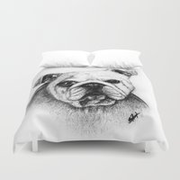 bulldog Duvet Covers featuring Bulldog by rebelsketches