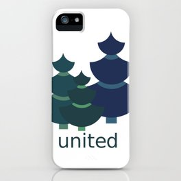 Green united iPhone Case