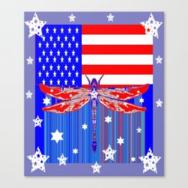 Red-White & Blue 4th of July Celebration Art Canvas Print