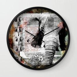 Of Elephants and Men Wall Clock