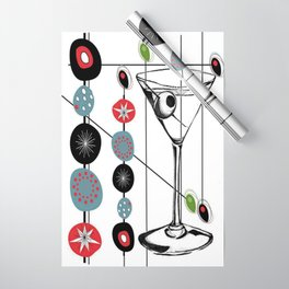 Mid-Century Modern Art Atomic Cocktail 3.0 Wrapping Paper