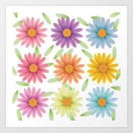 Colorist 3d daisy flower Art Print